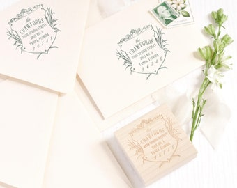 Return Address Stamp | Perfect for Wedding Invites | Wedding Gift | Housewarming Gift | Rubber Stamp | Custom Stamp | Personalized Stamp #19