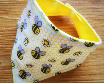 "Baby dribble / bandana bib ""Bee Happy"""
