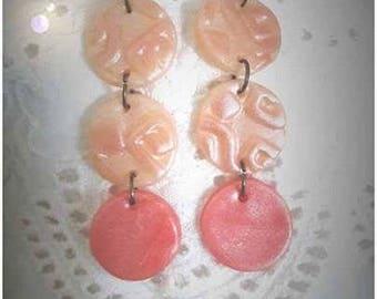 Boucles d'oreille Trois bulles de corail