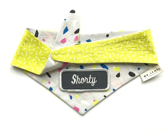 Shorty Patch Bandana-Grey Confetti