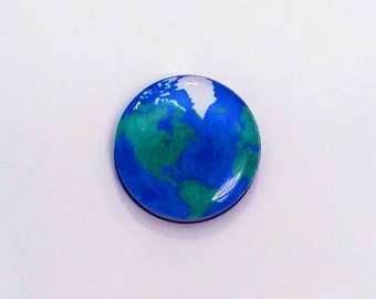 Earth Refrigerator magnet / Earth Fridge Magnet / World Magnet / Globe Decoration