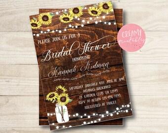 Sunflower Bridal Shower Invitations, Bridal Shower Invitation, Sunflower Invitations, Wedding Invitations