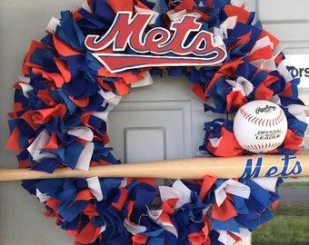New York Mets Wreath