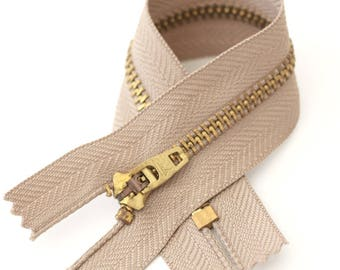 Haberdashery YKK zipper zipper/zip/brass with 15.5 cm lock system