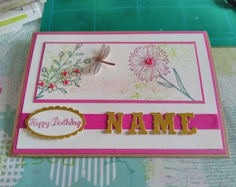 Customisable Stampin Up!  Birthday Card