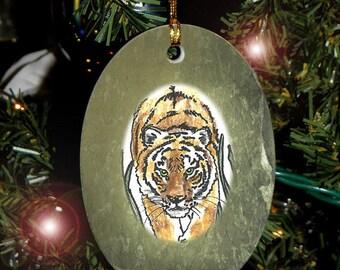 Tiger Totem Animal Yule, Holiday, Christmas Ornament