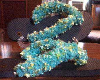 Crocheted Fun Flip Flops size medium