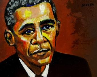Original painting (8x10in) Barack Obama