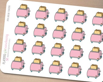 Pink Bread Toaster Planner Stickers perferct for Erin Condren, Kikki K, Filofax and all other Planners