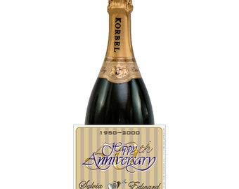 Golden Anniversary, Anniversay Stickers, Silver Anniversary Labels, 50th Anniversary, Wine Splits, mini liquor labels (Set of 24)(L282)