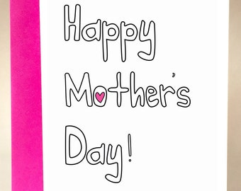 mothers day, funny mothers day card, card for mom, mothers day card, unique mothers day, funny mom card, funny greeting card