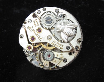 Bee Brooch, vintage watch movement, Steampunk brooch with sterling silver bee