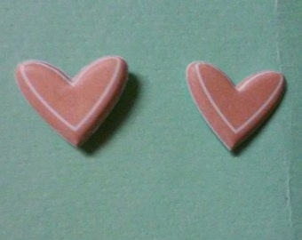 3D Heart Sticker Earrings