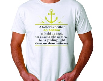 A Father Is Guiding Light Men's White T-shirt