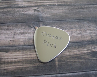 Personalized Guitar Pick, Hand Stamped Guitar Pick, Mens Guitar Pick, Customized Guitar Pick,  Engraved Guitar Pick, Custom Guitar Pick