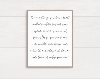 The One Thing You Have Art Print • Printable • Digital Download