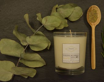 Scented Soy Wax Candle Eucalyptus and Rosemary