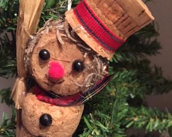 Snowman Cork Ornament