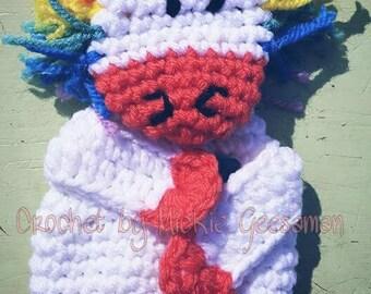 Crochet Unicorn Gift Card Holder.