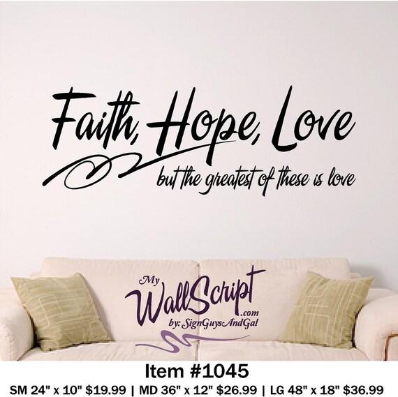 sc 1 st  Etsy & Bible Verse Wall Art Faith Hope Love Wall Decal