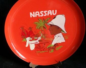 Vintage Nassau souvenir plate
