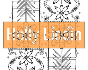 """Digital Colouring Page """"Flipped Flower"""""""