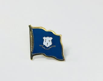 Connecticut State Flag Pin