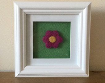 Hand felted flower picture