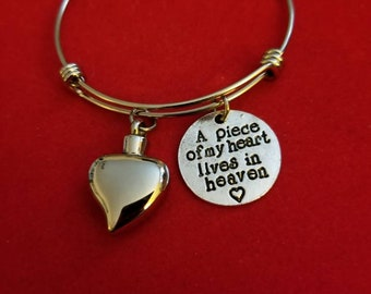 Silver Cremation Jewelry,  Heart Urn