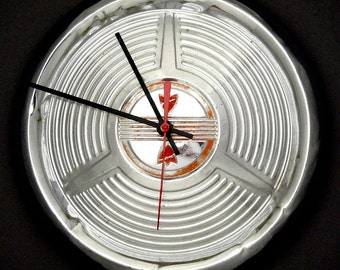 Oldsmobile Hubcap Clock - 1958 Olds Classic Car Part Wall Decor