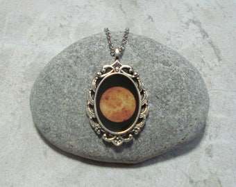 Venus Necklace Planet Pendant Jewelry Antique Silver
