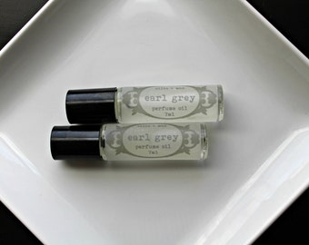 Earl Grey Vegan Perfume Oil, Roll on Perfume, Natural Perfume