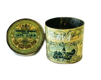 Antique Victorian Lithograph Biscuit Tin