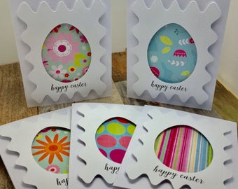 Happy Easter Cards, Easter Egg Cards, Easter Cards, Set of Five Cards, Set of 5 Cards, Five Cards, 5 Cards, Happy Easter, Easter, Easter Egg