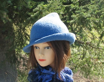 Special Order Only Fleur delacour Beauxbaton Academy Hat Harry Potter Medium Blue Knit Felt