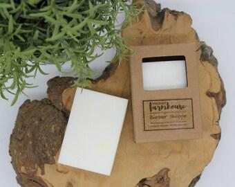 Barber Shoppe - Mens Soap - Goats Milk - All Natural - Farmhouse - Fresh  - Natural Soap - Goats Milk Soap - Moisturizing - Handmade Soap