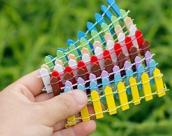 10 pcs/set mini fence miniatures fencing fairy garden gnome moss terrariums resin crafts decorations for home and garden kawaii