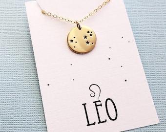 Leo Jewelry | Leo Necklace, Zodiac Jewelry, Zodiac Necklace, Constellation Necklace, Astrology Jewelry, Zodiac Sign Necklace, Zodiac