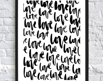 Ltd. Edition A Whole Lot of Love A3 Typography Printable