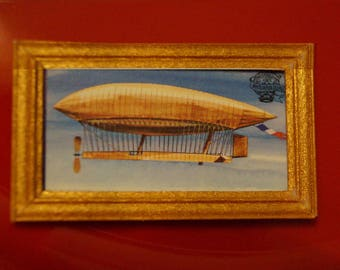 Dollhouse Framed Stamp; Steampunk; Airship