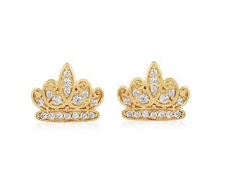 Gold Crown Princess Tiara Ring