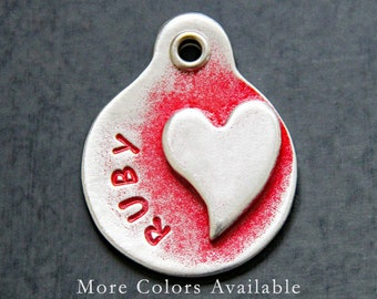 Hand Stamped Heart ID Tag - Stethoscope id Tag - Stethoscope Name Tag - Custom ID Tag - Personalized ID Tag - Personalized id Tag