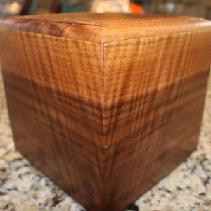 Adult Urn(up to 210 pounds)-Bottom Loading-Handcrafted from Exceptional Figured Curly Walnut-OPTIONAL Custom Laser Engraving