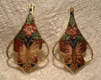 Cloisonne Pendants, Butterfly, 2 pcs, 40X22mm    No, 63445