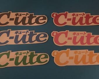 Hello! Project Logo Stickers - C-ute