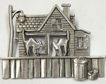 Vintage Haunted House Pin