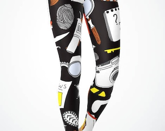 Police Themed Tools of the Trade Leggings or Capri's