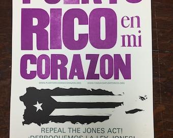 Puerto Rico en Mi Corazón Poster