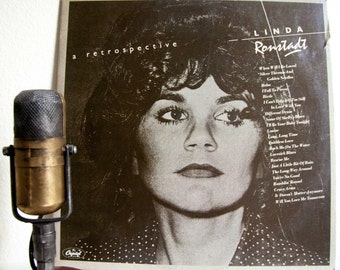 "ON SALE Linda Ronstadt Vinyl LP Records Vintage 1970s Light Rock Classic Rock and Roll Country Folk Pop Ballads ""A Retrospective"" (1977 Capi"