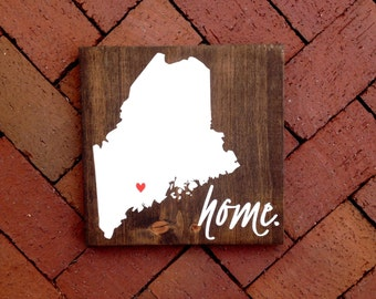 Home City & State Wood Sign, Home Town Sign, State Sign, Wood State Art, Hand Painted Rustic Home Decor, Wall Art